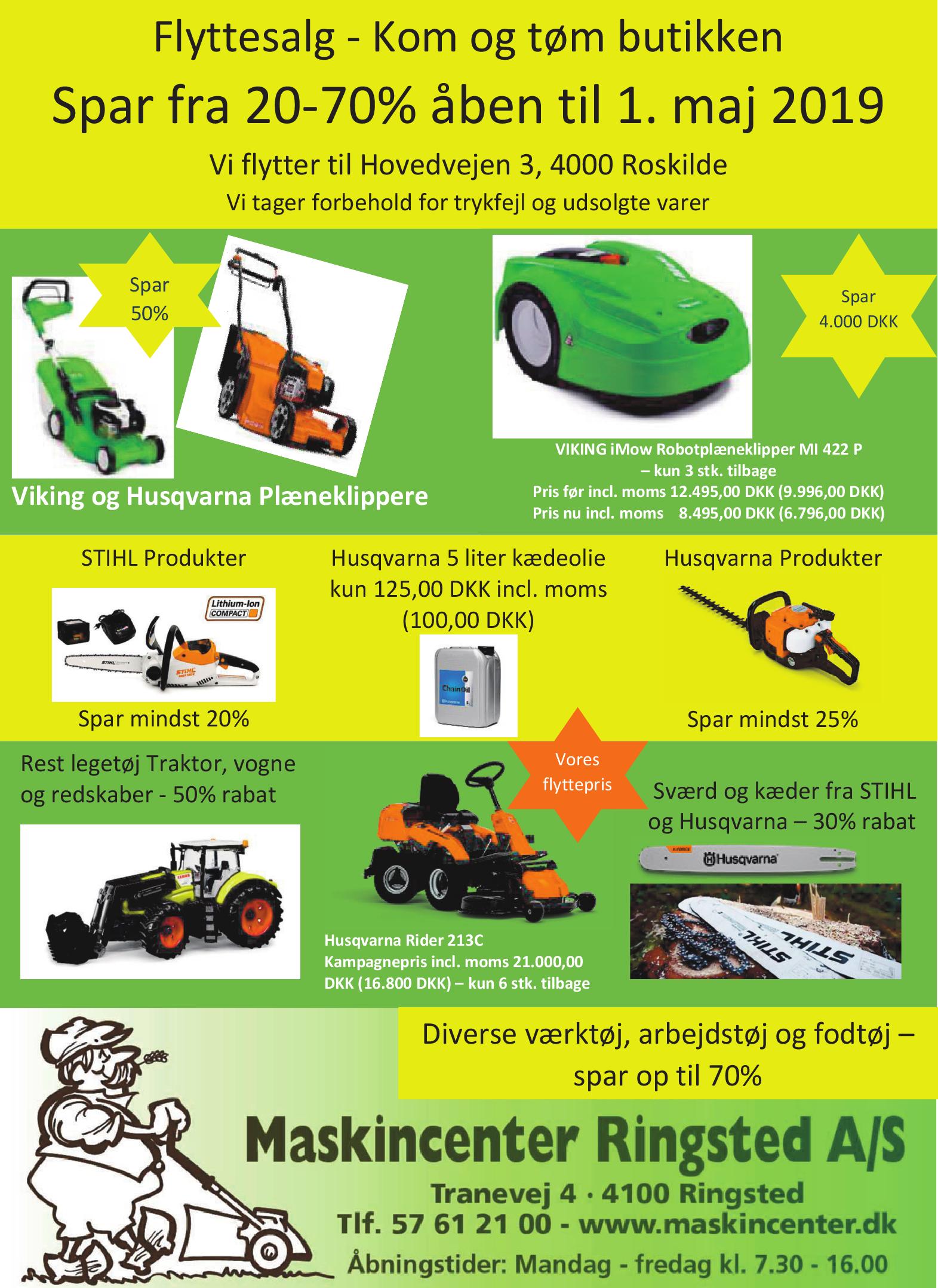 gul og gratis traktor